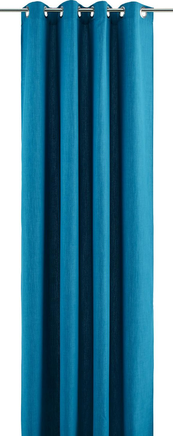 Ösenvorhang Ulli - petrolej, tekstil (140/245cm) - Mömax modern living