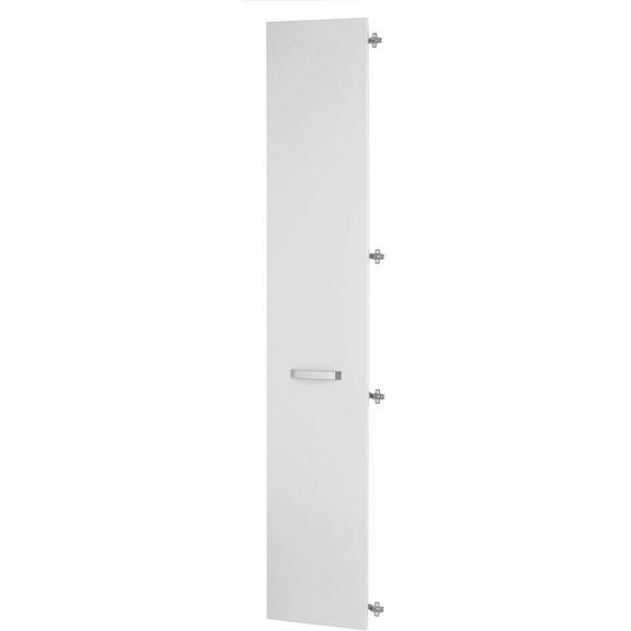 Tür in Weiß Hochglanz - Weiß, MODERN, Holzwerkstoff/Kunststoff (39.4/210.9/1.8cm) - Premium Living