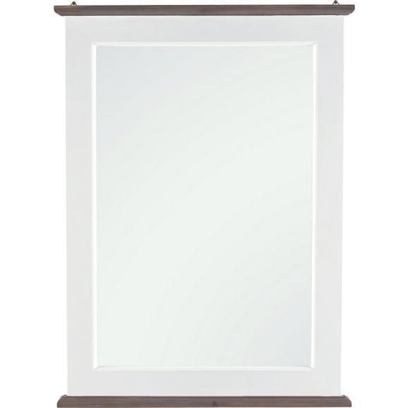 Spiegel in Weiß ca. 59/80/3,5 cm 'Cookie' - Weiß, Glas/Holz (59/80/3,5cm) - Bessagi Home