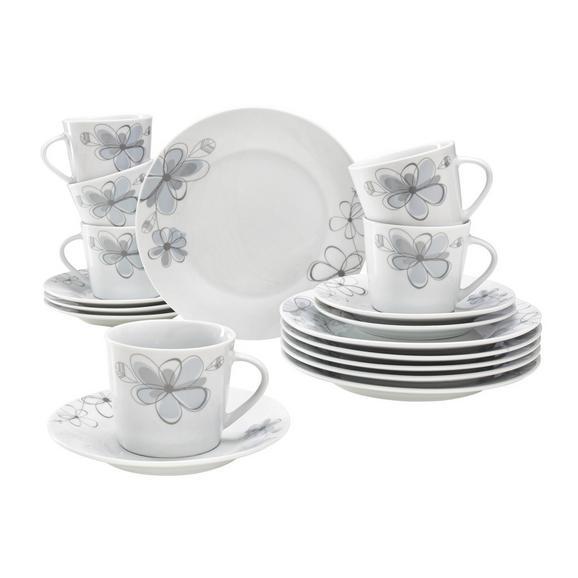 Serviciu De Cafea Kerstin - Alb/Albastru, Konventionell, Ceramică - Based