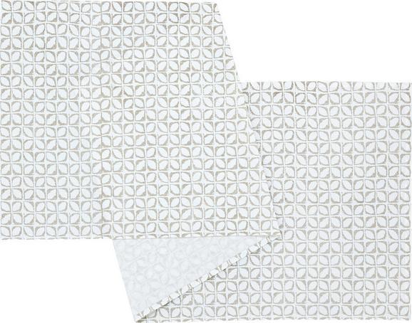 Tischläufer Pure in Grau/Weiß - Weiß/Grau, MODERN, Textil (45/150cm) - MÖMAX modern living