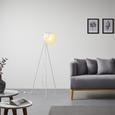 Stehleuchte max. 40 Watt 'Tomasso' - Weiß, MODERN, Metall (63/63/150cm) - Bessagi Home