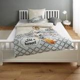 Bettwäsche Skihaserl - Baumwollsatin 135x200/80x80cm - Multicolor, KONVENTIONELL, Textil (135/200cm) - Mömax modern living