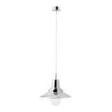 Hängeleuchte max. 60 Watt 'Henri' - Nickelfarben, Glas/Metall (29/24,5cm) - Bessagi Home