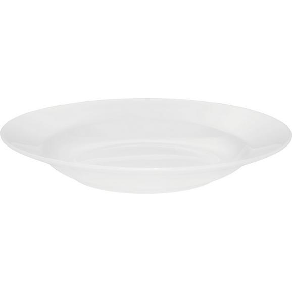 Suppenteller Bonnie in Weiß Ø ca. 20,3cm - Weiß, MODERN, Keramik (20,3cm) - Mömax modern living
