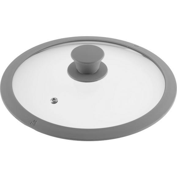 Pokrov Sonia - siva, Moderno, umetna masa/steklo (24cm) - Mömax modern living