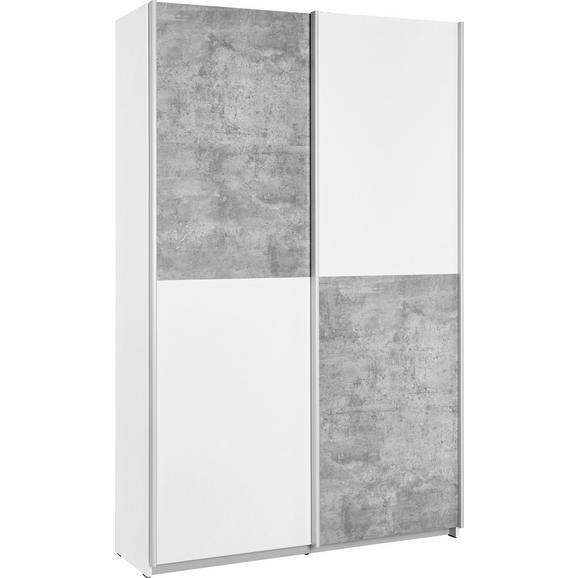Dulap Multifuncțional Ohio  -Exklusiv- - alb/gri, plastic/lemn (120/190,5/42cm) - Modern Living