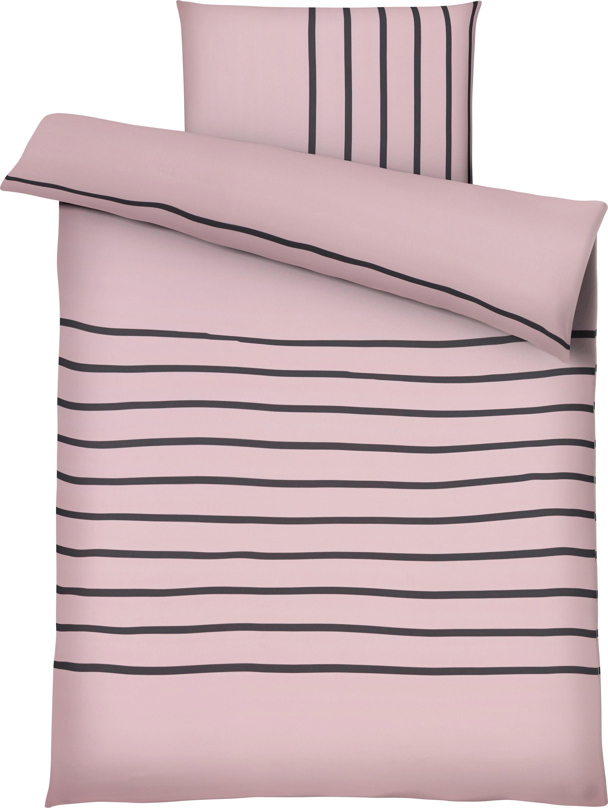 Bettwäsche Tamara in Rosa, ca. 135x200cm - Rosa, MODERN, Textil (135/200cm) - MÖMAX modern living