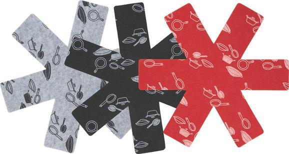 Edényvédő Freddy - fekete/piros, textil (38cm) - MÖMAX modern living