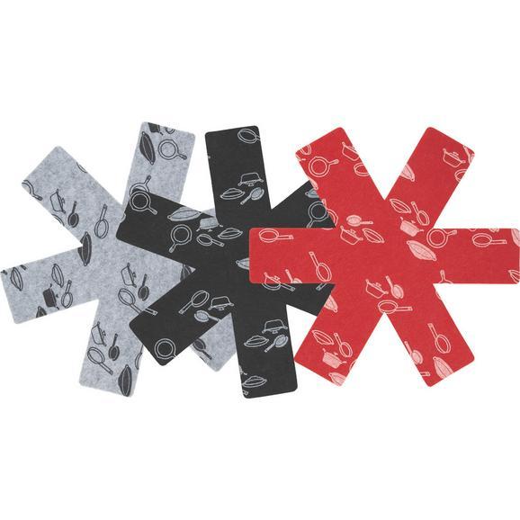 Pfannenschutz Freddy - Rot/Schwarz, Textil (38cm) - Mömax modern living