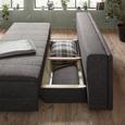 Trosjed Relax - siva/boje srebra, tekstil/drvo (205/72/106cm) - Premium Living