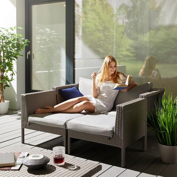 Loungegarnitur Vivia inkl. Auflagen & Rückenkissen - Grau, MODERN, Kunststoff/Textil - Mömax modern living