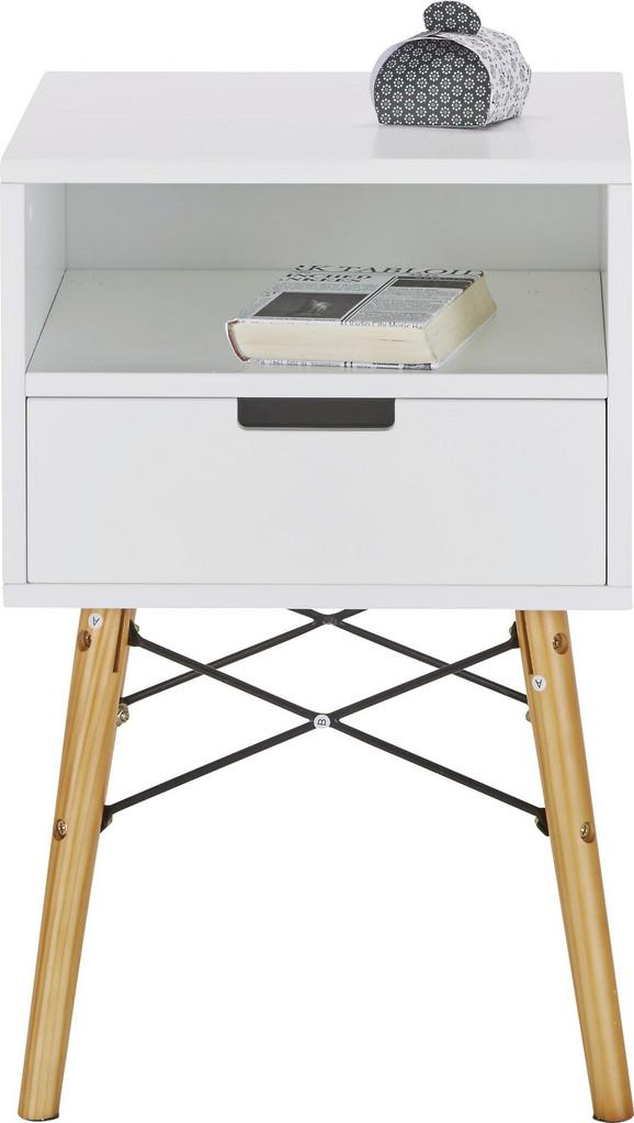 Kommode in Weiß aus Kiefer - Weiß/Naturfarben, MODERN, Holz/Holzwerkstoff (40/61/40cm) - MÖMAX modern living