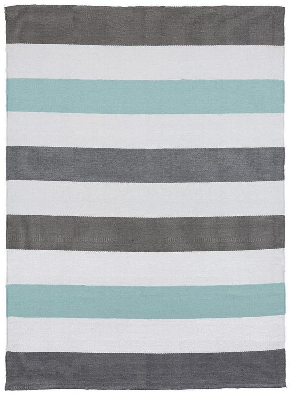 Outdoorteppich Stripe 120x170cm - Blau/Weiß, MODERN, Textil (120/170cm) - MÖMAX modern living