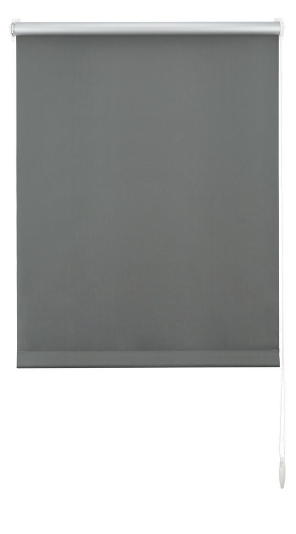 Klemmrollo Thermo, ca. 60x150cm - Schieferfarben, Textil (60/150cm) - Premium Living