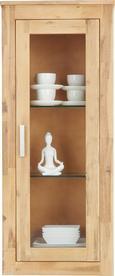Hängeelement aus Akazie - Klar/Silberfarben, KONVENTIONELL, Glas/Holz (50/120/35cm) - ZANDIARA