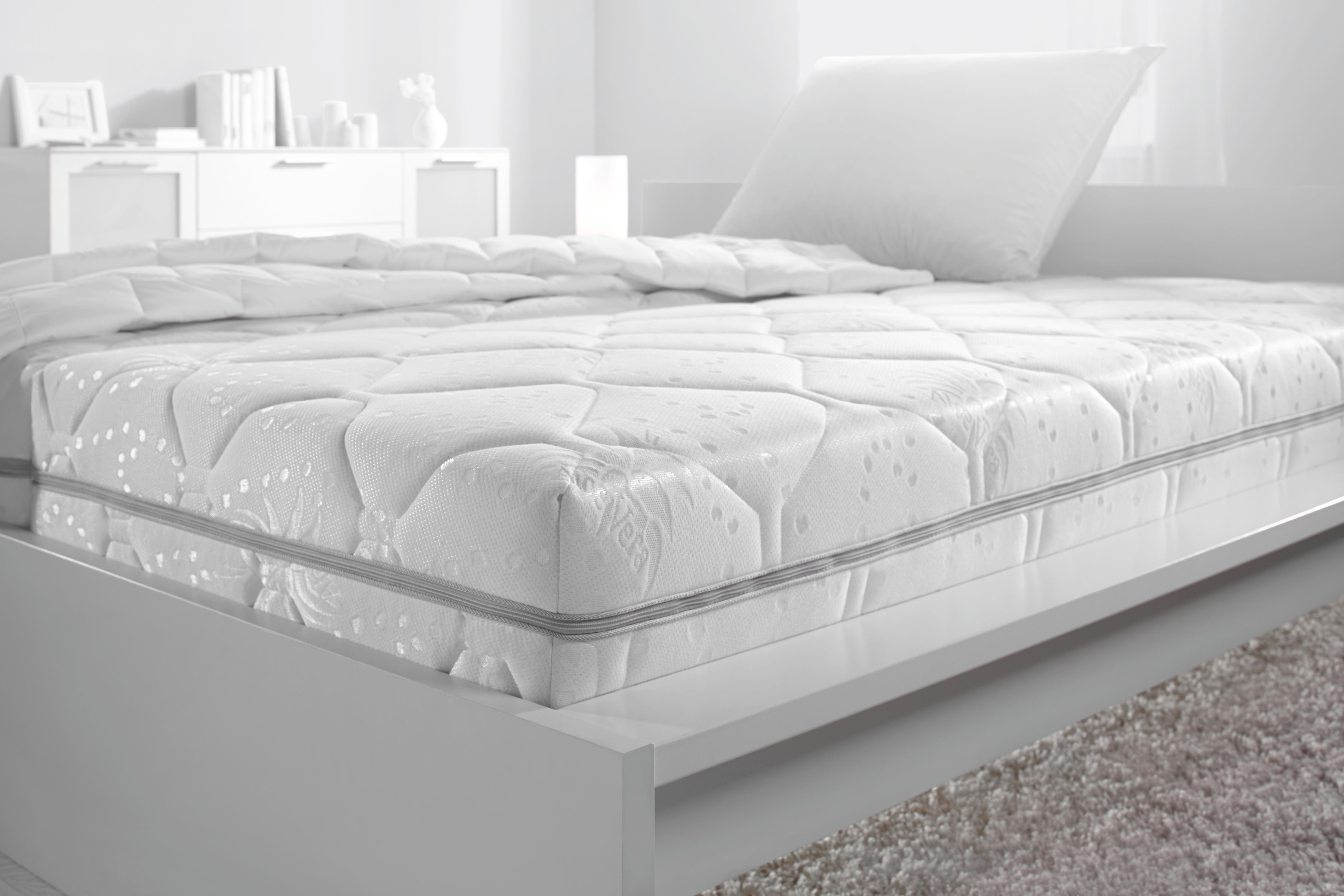 Taschenfederkernmatratze Micro, ca. 140x200cm - Weiß, Textil (140/200cm) - NADANA