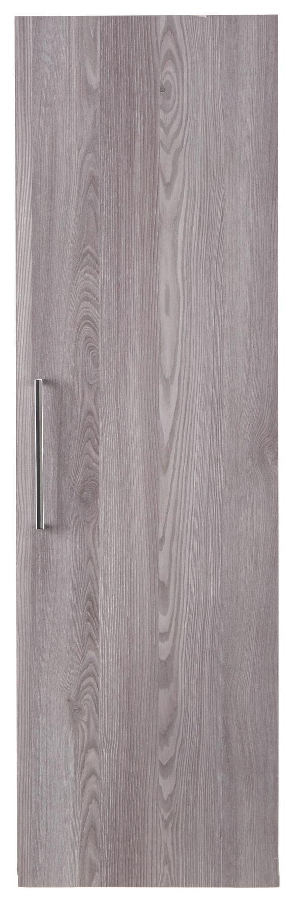 Hängeelement Grau - Silberfarben, MODERN, Holzwerkstoff/Kunststoff (35/116/35cm) - Premium Living