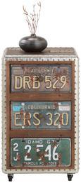 Rollcontainer in Braun/bunt - Multicolor/Schwarz, LIFESTYLE, Holzwerkstoff/Kunststoff (40/67/34cm) - Mömax modern living