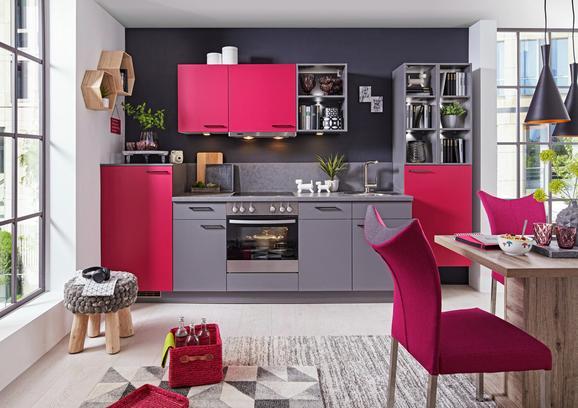 Küchenblock Küchenblock Win 320 cm - Pink/Anthrazit (320cm) - Express