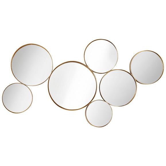 Stenska Dekoracija Mira - zlata, kovina/steklo (93/49/6cm) - Mömax modern living