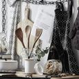 Topflappen und Handschuh Blacky in Schwarz/Weiß - Schwarz/Weiß, LIFESTYLE, Textil (18/32cm) - Mömax modern living