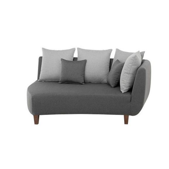 Sedežni Element Jolina - temno siva/siva, Moderno, tekstil/les (162/90/122cm) - Modern Living