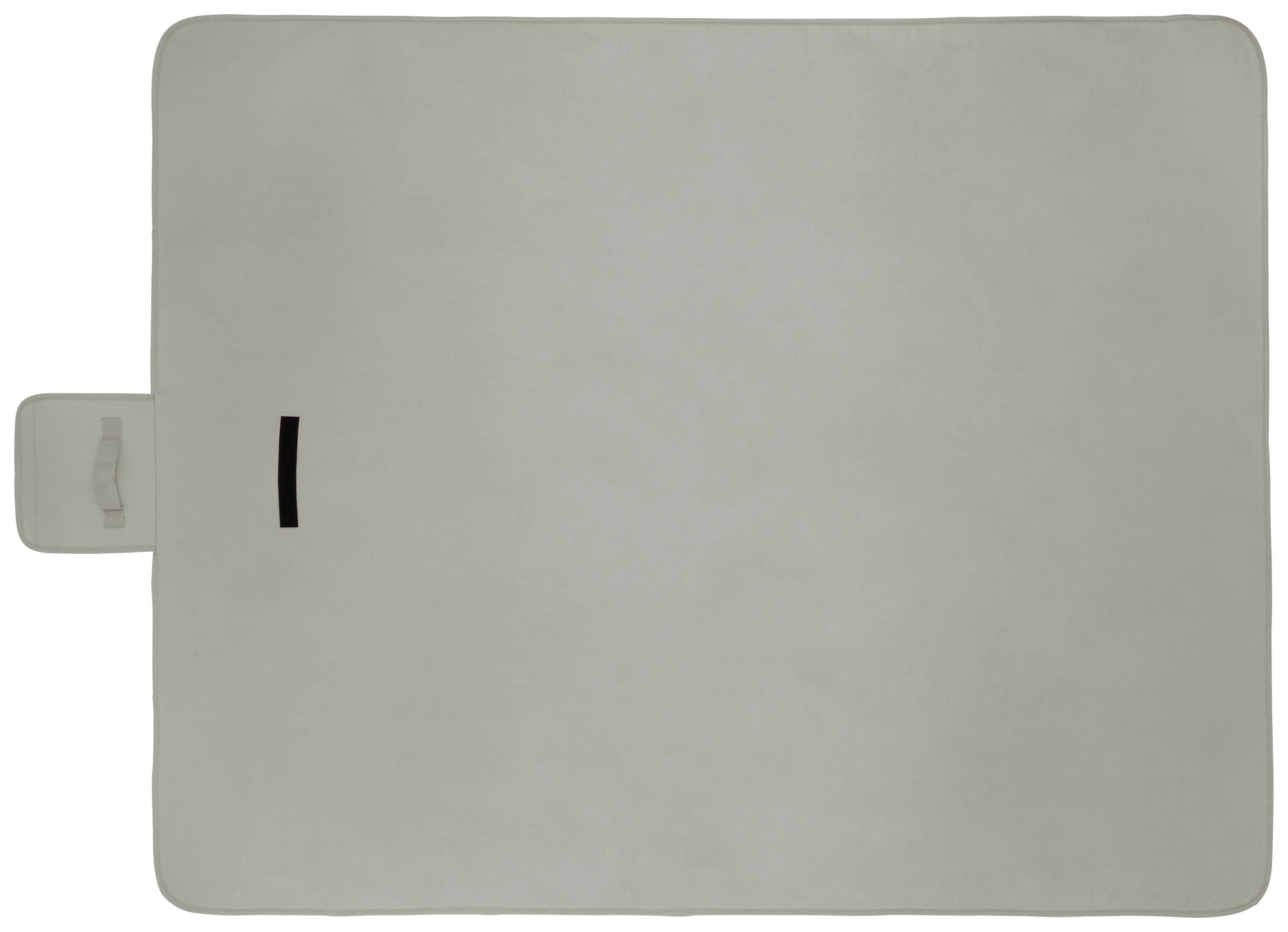 Picknickdecke Uni in Grau, ca. 125x150cm - Grau, Textil (125/150cm) - MÖMAX modern living