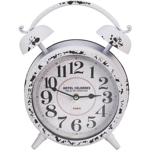 Uhr Kensington ca. 24/32 cm - Rot/Schwarz, MODERN, Glas/Papier (24/8/32cm) - Bessagi Home
