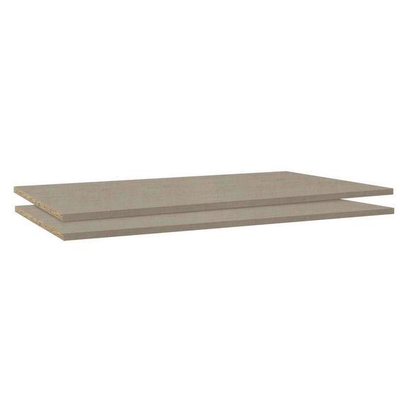 Einlegebodenset in Braun, 2er- Set - Holzwerkstoff - Modern Living