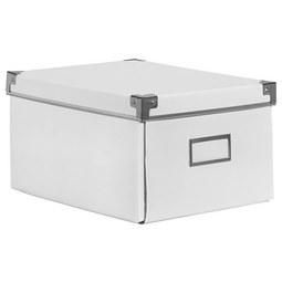 CD-/DVD-Box Lorenz in Weiß, Faltbar - Weiß, Karton/Metall (28/20,5/15cm) - Mömax modern living