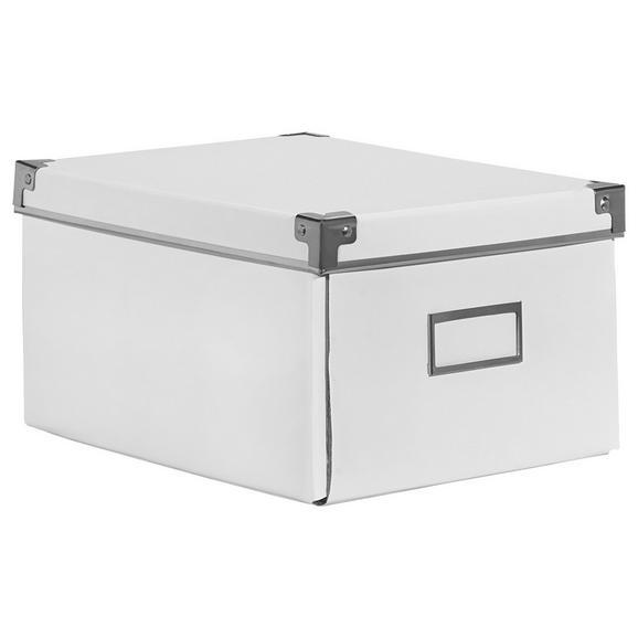 CD-/DVD-Box Lorenz Weiß, Faltbar - Weiß, Karton/Metall (28/20,5/15cm) - Mömax modern living