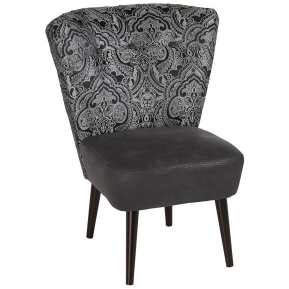 Fotelja Estella - tamno smeđa/crna, Lifestyle, drvo/tekstil (67/85/44/68cm) - Modern Living