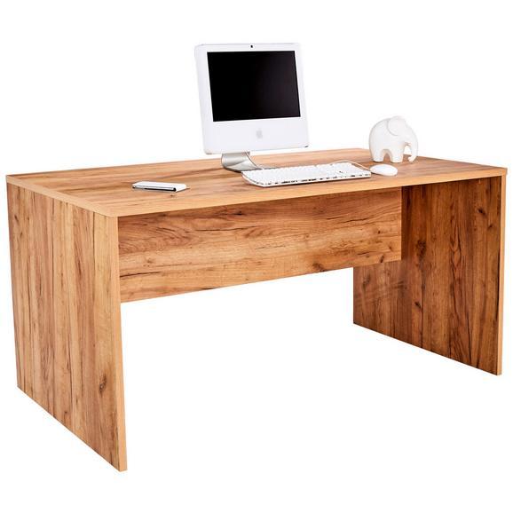 Masă De Birou Profi - culoare lemn stejar, Modern, compozit lemnos (160/76/80cm) - Ombra