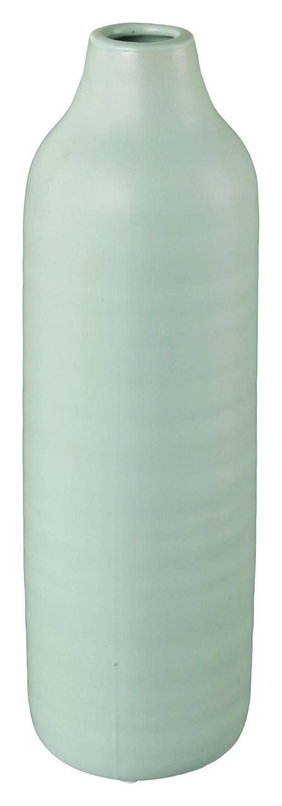Dekovase Presence Grün 9x24 cm - Grün, LIFESTYLE, Keramik (9/24cm)
