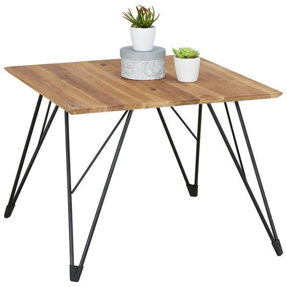 Couchtisch in Schwarz/Eichefarben - Eichefarben/Schwarz, MODERN, Holz/Metall (60/46/60cm) - Modern Living