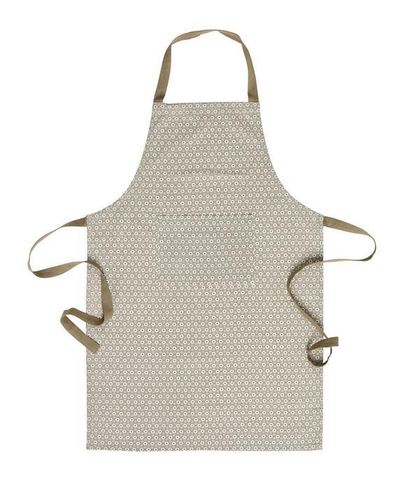 Predpasnik Ameline - sivo rjava, Romantika, tekstil (60/90cm) - Zandiara