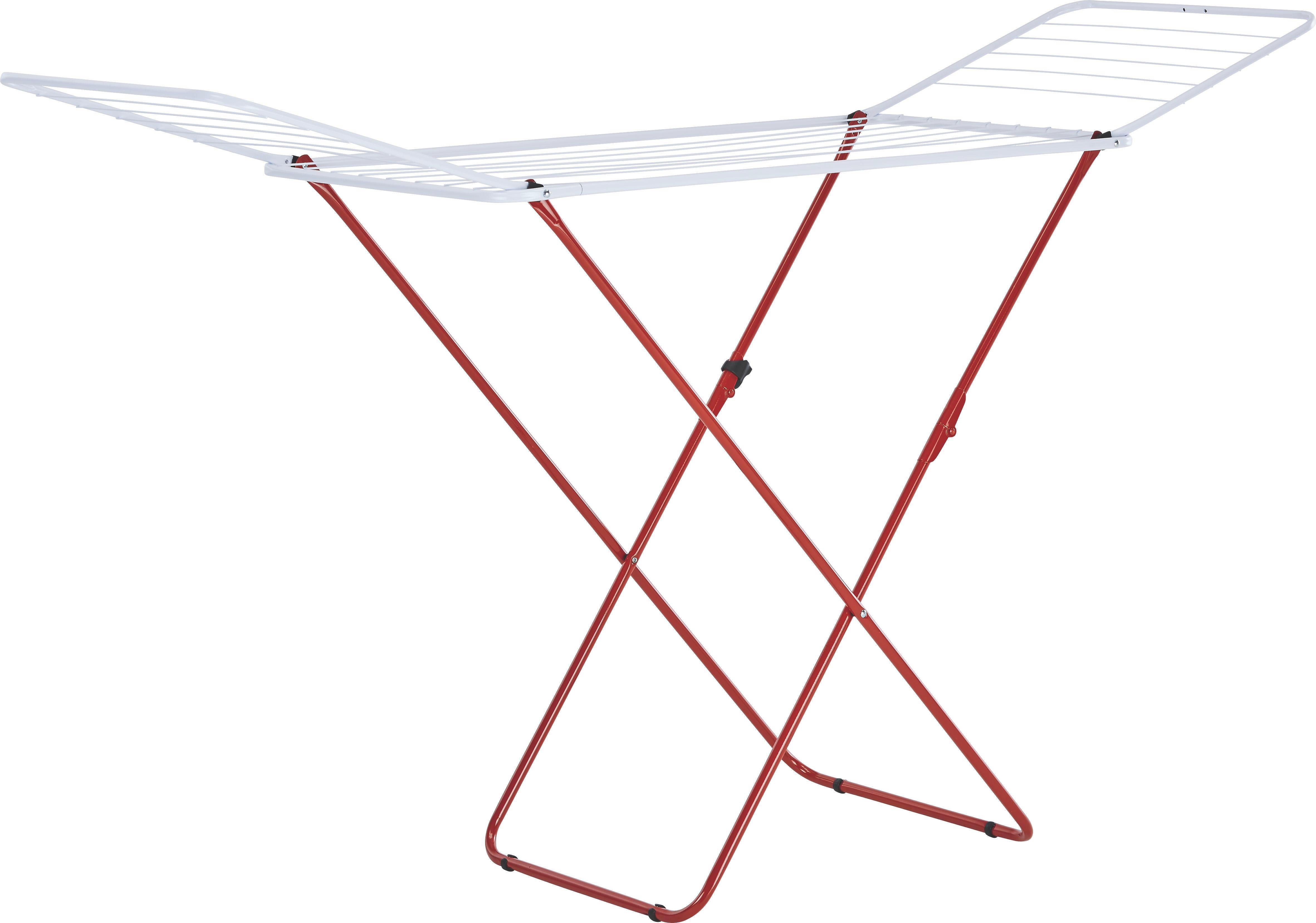 Wäschetrockner Jenny in Rot, Weiß, Grün - Rot/Hellgrün, Metall (180/55/93cm) - MÖMAX modern living