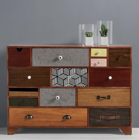 Sideboard Heather - Multicolor, MODERN, Holz/Metall (115/81/38cm) - Mömax modern living