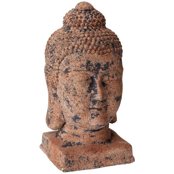 Buddha Fej Buddha - Barna/Fekete, Kő (19/19/39,5cm) - Mömax modern living
