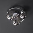 Deckenleuchte Nadiya 3-flammig - Chromfarben, MODERN, Glas/Metall (25/18cm) - Modern Living