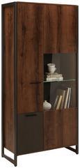 VITRINE Braun/Eichefarben - Eichefarben/Anthrazit, LIFESTYLE, Glas/Holzwerkstoff (88/189/40cm) - Modern Living