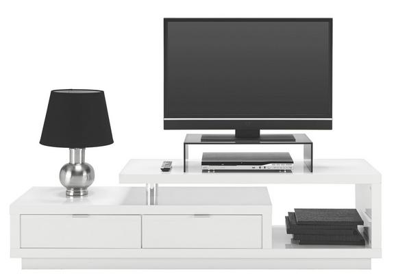 Tv-element Sebastian - aluminij/bela, Moderno, umetna masa/leseni material (170/45/40cm)