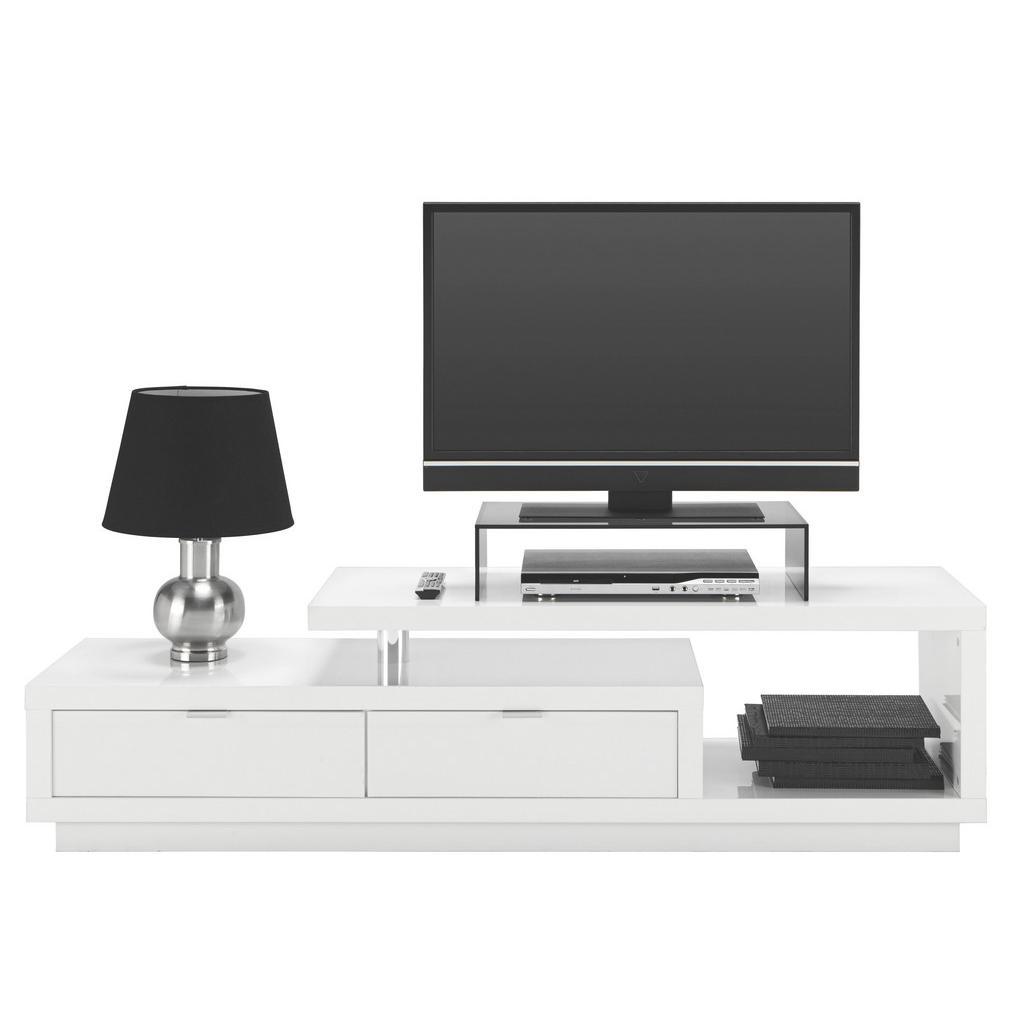 TV-Element Weiß Hochglanz