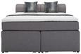 Postelja Boxspring Flexi - črna/antracit, Moderno, umetna masa/tekstil (180/200cm) - Mömax modern living