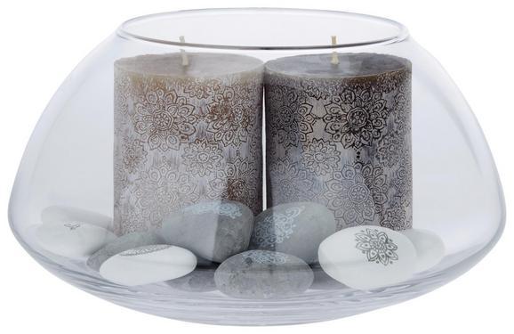 Kerze Mandala Verschiedene Farben - Grau (7/10cm)