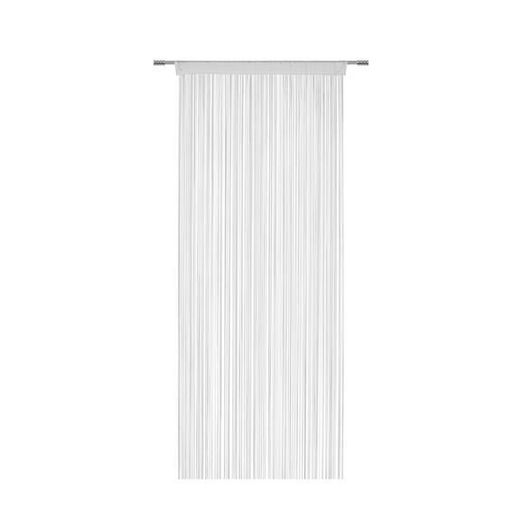 Perdea Cu Franjuri Promotion - alb, Konventionell, textil (90/200cm) - Based
