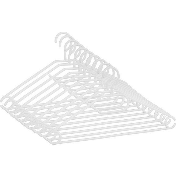Set Obešalnikov Clara -based- -top- - bela, umetna masa (40,8/20,5cm) - Based