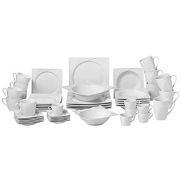 Kombiservice Celia aus Porzellan, 50-teilig - Weiß, MODERN, Keramik - Premium Living