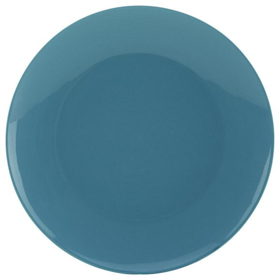 Speiseteller Sandy Blau aus Keramik - Blau, KONVENTIONELL, Keramik (26,8/2,42cm) - Mömax modern living
